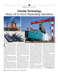 MR Nov-19#82  to Assist Shipbuilding Operations Images: Cimolai Technology imol