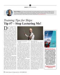 MR Dec-19#8 I INSIGHTS: TRAINING TIPS FOR SHIPS Murray Goldberg is CEO