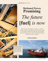 MR Dec-19#27 GREAT SHIPS OF 2019 A METHANOL FUTURE Methanol Proves
