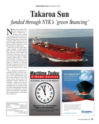 MR Dec-19#31 GREAT SHIPS OF 2019 A METHANOL FUTURE Takaroa Sun  funded