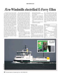 MR Dec-19#32 GREAT SHIPS OF 2019 Ærø-Windmills electri?  ed E-Ferry