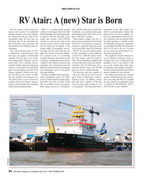 MR Dec-19#34 GREAT SHIPS OF 2019 RV Atair: A (new) Star is Born The new