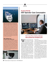 MR Dec-19#36 T TECH FILES The power of Data helps OSV Operator Cuts