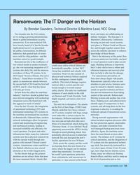 MR Jun-20#53 Ransomware: The IT Danger on the Horizon By Brendan