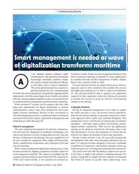 MR Jul-20#22 Communications  Smart management is needed as wave  of