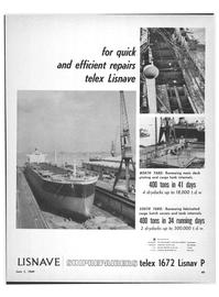 Marine News Magazine, page 47,  Jun 1969 USA LISNAVE SHIPYARDS Inc