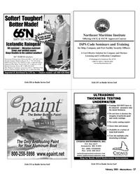 Marine News Magazine, page 27,  Feb 2005 CYGNUS INSTRUMENTS INC.