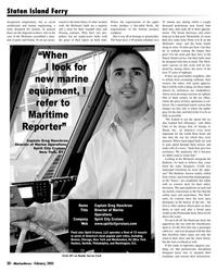 Marine News Magazine, page 30,  Feb 2005 Staten Island