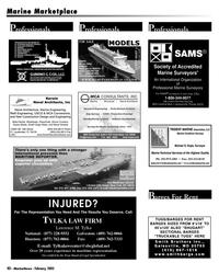 Marine News Magazine, page 40,  Feb 2005 Maryland