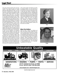Marine News Magazine, page 12,  Mar 2005 ENGINES PUMPS PARTS SERVICE