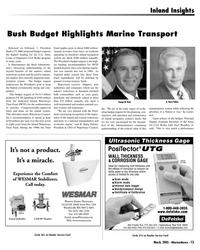 Marine News Magazine, page 13,  Mar 2005 Bush