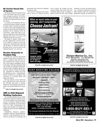 Marine News Magazine, page 37,  Mar 2005 Laser