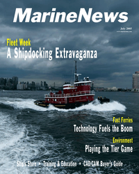 Marine News Magazine Cover Jul 2005 -