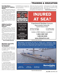 Marine News Magazine, page 31,  Jul 2005 Cal Maritime Awarded