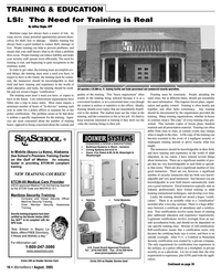 Marine News Magazine, page 16,  Aug 2005 Sea School???s Premiere Training Center on the Gulf of Mexico