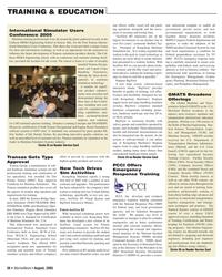 Marine News Magazine, page 37,  Aug 2005 simulation technology