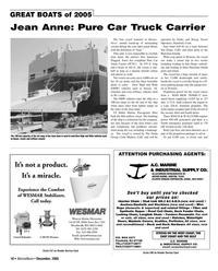 Marine News Magazine, page 18,  Dec 2005 Pasha Vessel Operators