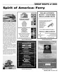 Marine News Magazine, page 25,  Dec 2005 Dennis McCloskey