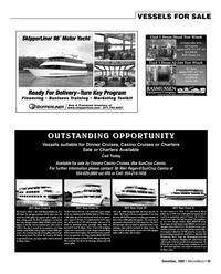 Marine News Magazine, page 35,  Dec 2005 Oceans Casino Cruises