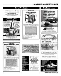 Marine News Magazine, page 39,  Dec 2005 Onalaska