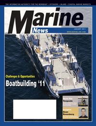 Marine News Magazine Cover Jan 2011 - Vessel Construction & Repair