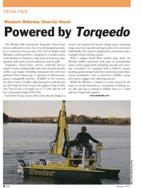 Marine News Magazine, page 8,  Jan 2011 shallow draft fiberglass