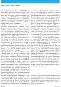 Marine News Magazine, page 16,  Mar 2011 ASA Training Committee