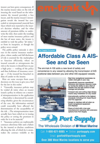 Marine News Magazine, page 19,  May 2011 insurance cover
