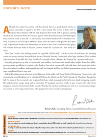 Marine News Magazine, page 6,  May 2011 Raina Clark