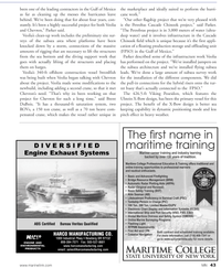 Marine News Magazine, page 43,  Jun 2011 DIVERSIFIED Engine Exhaust Systems HARCO MANUFACTURING CO.