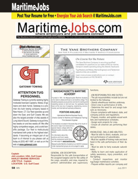 Marine News Magazine, page 58,  Jul 2011 Center for Maritime and Professional Training