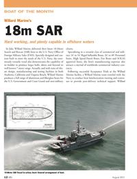 Marine News Magazine, page 12,  Aug 2011 Willard Willard Marine