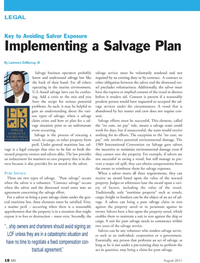 Marine News Magazine, page 18,  Aug 2011 eral maritime law