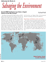 Marine News Magazine, page 24,  Aug 2011 Environmental Research Consulting