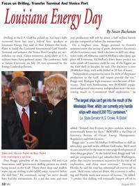 Marine News Magazine, page 32,  Aug 2011 Tulane University