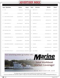 Marine News Magazine, page 48,  Aug 2011 Maritime College