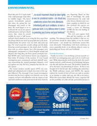 Marine News Magazine, page 20,  Oct 2011 lube oil leak