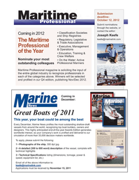 Marine News Magazine, page 3rd Cover,  Oct 2011