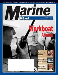 Marine News Magazine Cover Nov 2011 - Workboat Annual