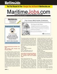 Marine News Magazine, page 106,  Nov 2011 self-unloading bulk carrier