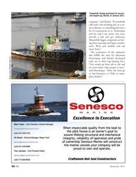 Marine News Magazine, page 56,  Nov 2011 Tradewinds Towing LLC