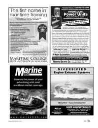 Marine News Magazine, page 91,  Nov 2011 DIVERSIFIEDEngine Exhaust SystemsHARCO MANUFACTURING CO.