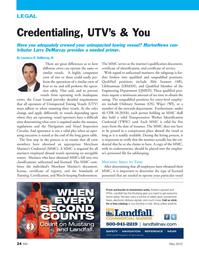 Marine News Magazine, page 24,  May 2012