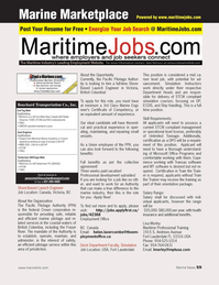 Marine News Magazine, page 59,  Apr 2013 ploymentof?? ce.caDeck Department Faculty