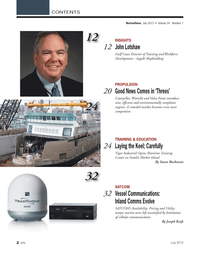 Marine News Magazine, page 2,  Jul 2013 Harbor Island By Susan Buchanan SATCOM