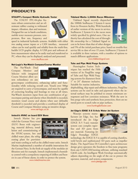 Marine News Magazine, page 58,  Aug 2013 Jet Edge EDGE X-5 5-axis waterjet system