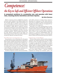 Marine News Magazine, page 40,  Sep 2013 Chris CharmanOFFSHORE