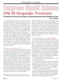 Marine News Magazine, page 26,  Oct 2013 RESPONDER IMMUNITY COALITION ACTIONS IN 2013The Responder Immunity Coalition