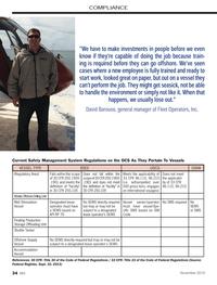 Marine News Magazine, page 34,  Nov 2013 COMPLIANCEVESSEL TYPE BSEEUSCGOSHA(Regulatory Area)Falls