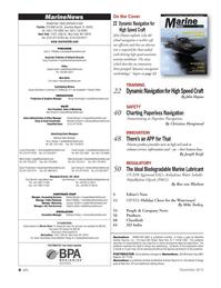 Marine News Magazine, page 4,  Dec 2013 Nicole Ventimiglia